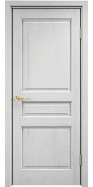 Дверь из массива сосны ПМЦ М5 ДГФ (Белый воск)