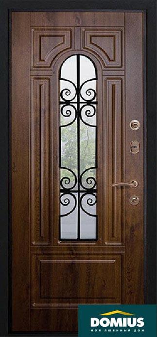 входные двери с внутренней отделкой из мдф темный орех